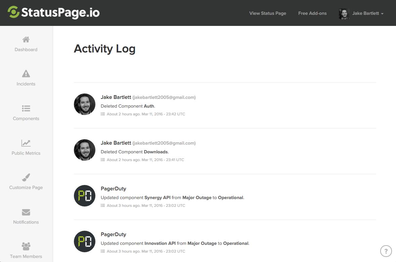 Overview   StatusPage.io