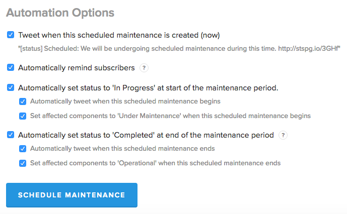 Scheduled Maintenance Automation