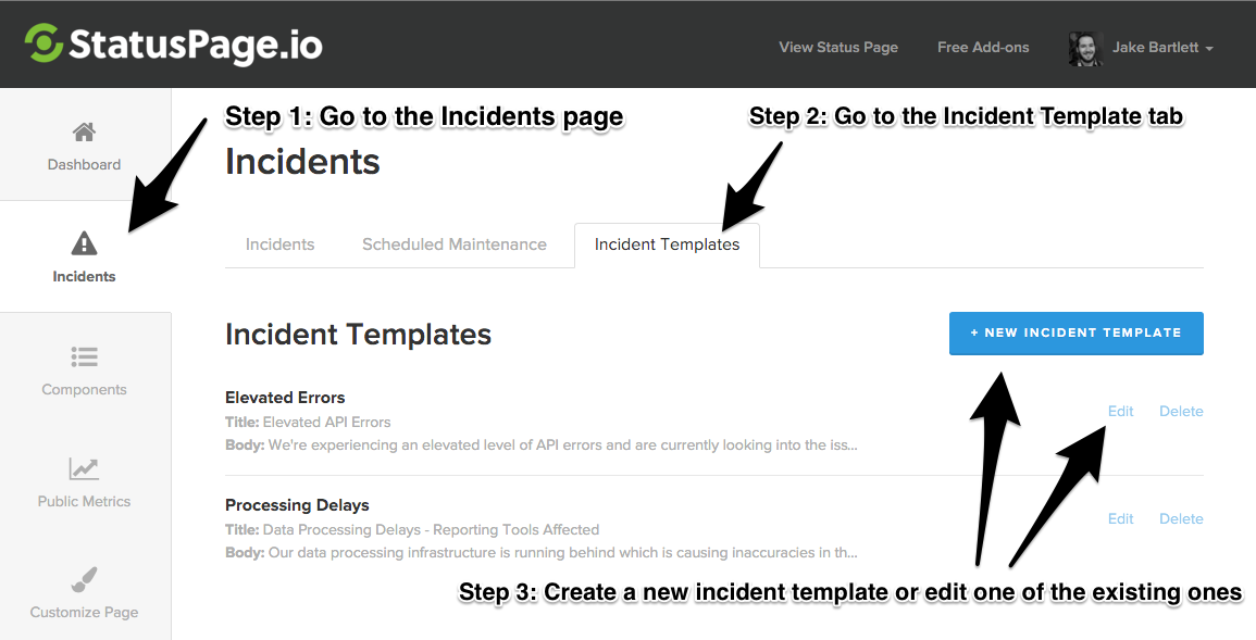 Incident Templates 1